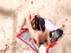 18 19 Teens, 18 19 Teens, Beach, Condom, Couple, Doggystyle