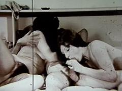 Historic Porn, Blowjob, Brunette, Classic, Cumshot, Hardcore