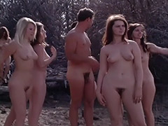 Retro, Classic, Group, Nudist, Outdoor, Teen