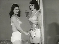 Beautiful Girls in Underwear in Strange Action 1950