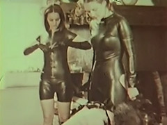 Latex Mistresses Punish Cumming Slave 1970