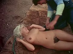 Beautiful Nude Blonde Hosed Down and Fucked 1970