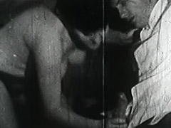 Smoking Couple gets Naughty with Ropes 1950