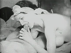 Drunken Dude's Cock Sucked by Prostitute 1930