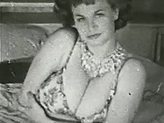 Chesty Mature Lady in Erotic Session 1950