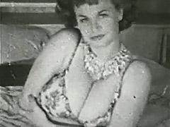 1950, Babe, Brunette, Classic, Fetish, Hardcore