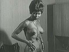 1950, Classic, Ebony, Interracial, Masturbation, Mature