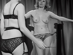 Femdom Whips and Loves Her Female Slave 1960