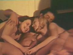 1960, Babe, Blonde, Brunette, Classic, Cumshot