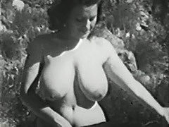 1950, Babe, BBW, Brunette, Classic, Double