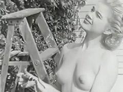 1950, Babe, Classic, Fetish, Hairy, MILF