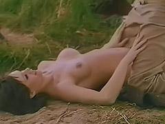 1960, Blowjob, Brunette, Classic, Hairy, Outdoor