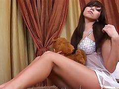 Underwear, Brunette, Natural, Pussy, Sex, Solo