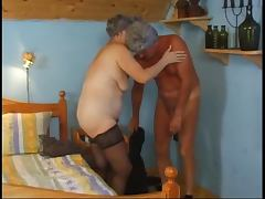 Old lady and anal