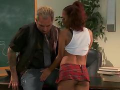 Kinky Pigtailed Asian Schoolgirl Kaylani Lei Fucked By Her Teacher