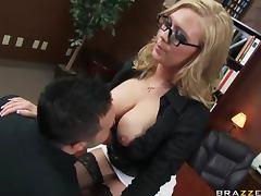 Awesome slut in glasses boned