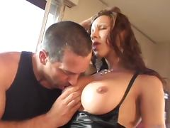 Transsexual Prostitutes Sharing A Guy