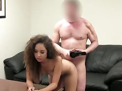 Easy asian brunette chick anal casting