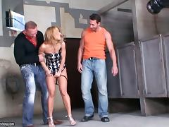 Backstage Footave Of Chick Sucking Two Cocks