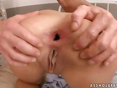 Janet Joy the long haired brunette in hot DP video