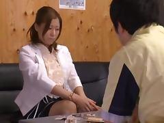 Kinky Dude Forcing Japanese Girl Chihiro Akino to Suck His Dick