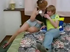 Russian Son Fucks Step Mom