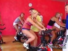 Biker, Biker, European, Group, Gym, Pornstar