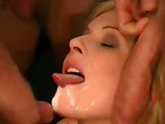 German mature gangbanged and jizzed