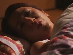Spectacular Big Boobed Mature Japanese Rika Fujishita Masturbates In Bed