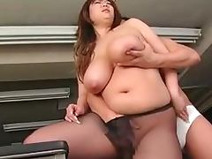 Office, Big Tits, Chubby, Couple, Fat, Fingering