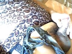 angelaTV Jerking off while sniffing a smelly stained thong