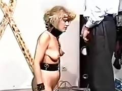 pain - Incredible caning makes her ass red with pain in her eyes