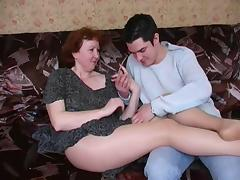Mom and Boy, Amateur, Hairy, Mature, Mom, Pantyhose