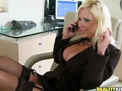 Boss, Big Tits, Blonde, Boss, Bra, Couple