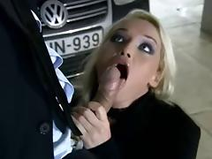 Blonde Hottie Butt Fucked in Garage