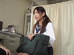 Asian cunt fingered and fucked at the gynecological clinic