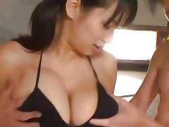 Asian, Asian, Babe, Big Tits, Boobs, Threesome