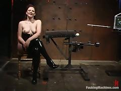 Caroline Pierce gets tomented and fucked with toys in a cellar
