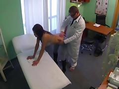 Stunning pole dancer fucked by doctor in fake hospital
