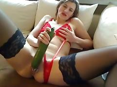 Mature Double Cucumber Slut