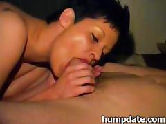 Sexy wife gives a nice blowjob