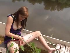 Boat, Boat, Brunette, Fingering, HD, Masturbation