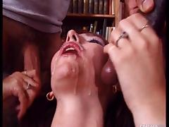 Sexy redhead librarian is having an interracial sex