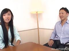Japanese in Tan Lines Nana Ogura Getting Fucked Hard in Panties On