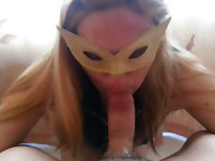 Sexy Kirmess wife in Fuzz POV blowjob sucking cuming