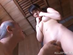 Asian Old and Young, Asian, Couple, Fingering, Japanese, Pigtail
