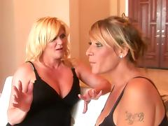 Two lesbian MILFs lick and toy their juicy pussies