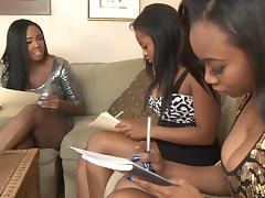 Black Lesbian, Black, Ebony, Group, Lesbian, Orgy