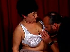 Bra, Blowjob, Bra, Couple, Doggystyle, Fishnet