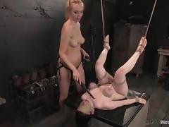 Busty Bruentte used as a Sex Toy by Annette Schwarz is Lesbian BDSM